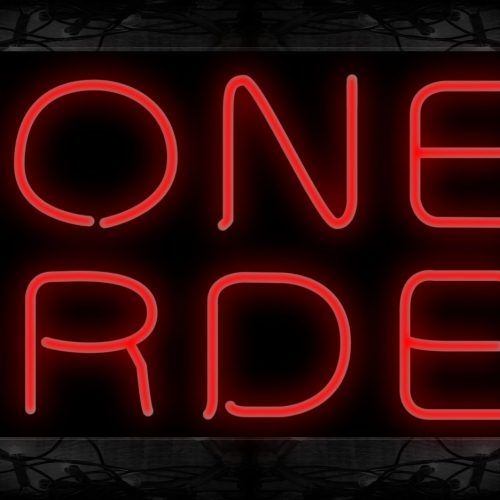 Image of 10262 Money Order Neon Sign 13x32 Black Backing