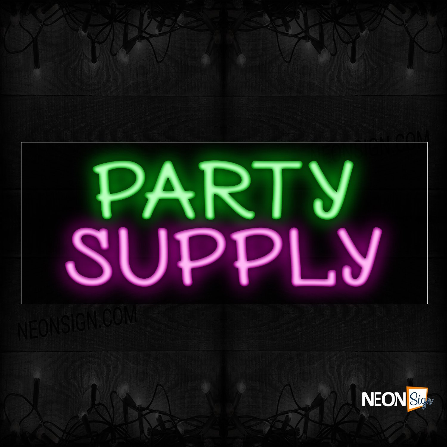 Image of 10274 Party Supply Neon Sign_13x32 Black Backing