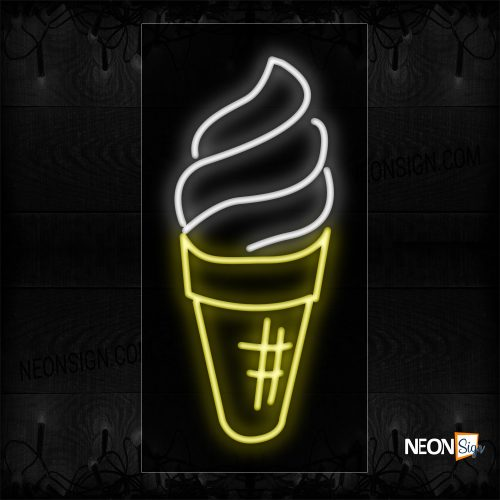 Image of 10317 Ice Cream logo Neon Signs_13x32 Black Backing