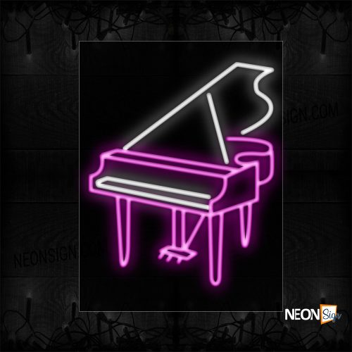 Image of 10435 Piano Image Neon Sign_20x31 Black Backing