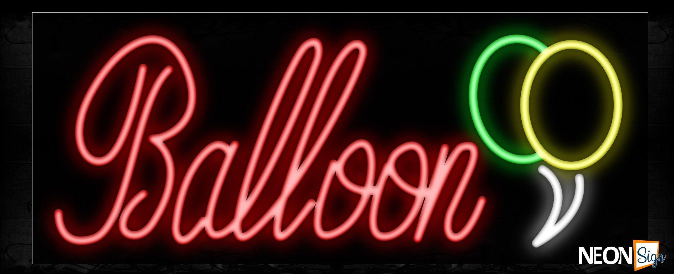 Image of 10501 Balloon Traditional Neon_13x32 Black Backing