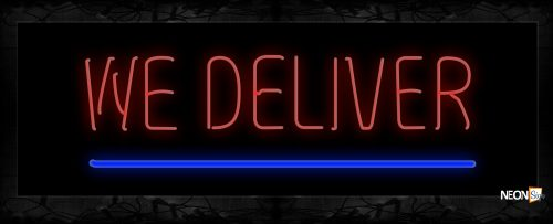 Image of 10534 Neon Sign 13x32 Black Backing