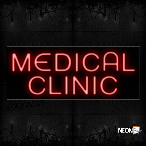 Image of 10576 Medical Clinic In Red Neon Sign_13x32 Black Backing