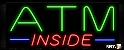 Image of 10714 ATM Inside Traditional Neon_13x32 Black Backing