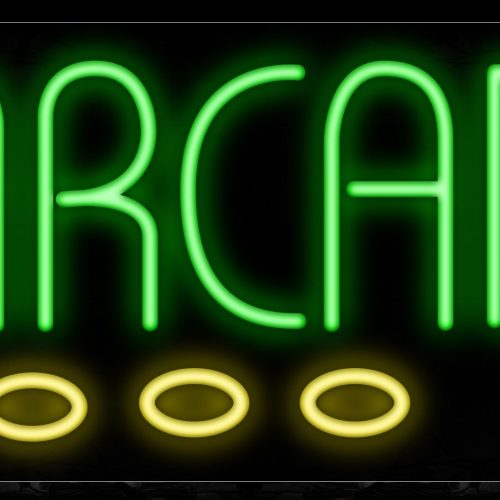 Image of 10730 Arcade with game controller Neon Sign_13x32 Black Backing