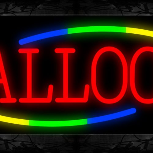 Image of 10736 Balloon with curve line Neon Sign 13x32 Black Backing