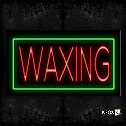 Image of 11123 Waxing With borderline Neon Signs_20x37 Black Backing