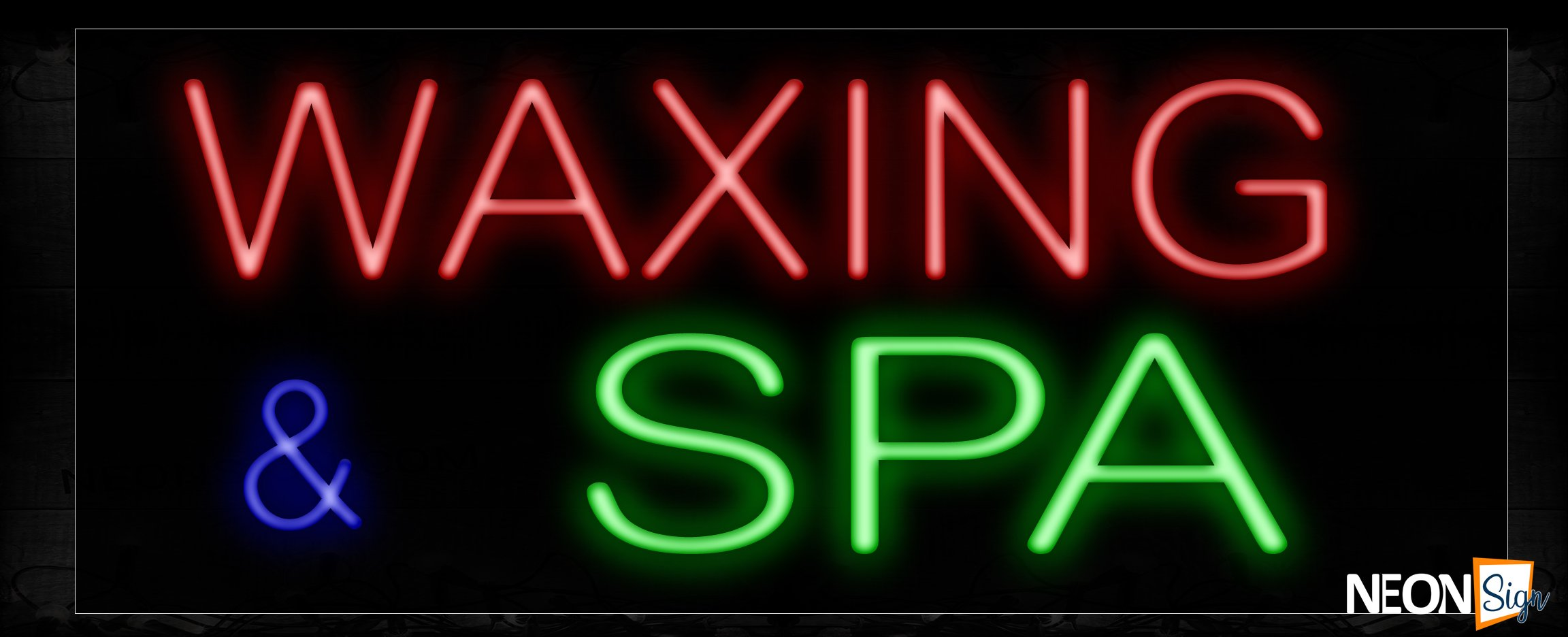 Image of 11231 Waxing & Spa Neon Sign_13x32 Black Backing