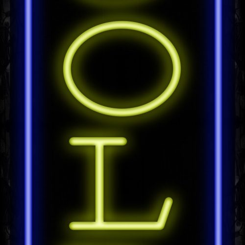 Image of 11233 Gold with border Neon Signs_32 x12 Black Backing