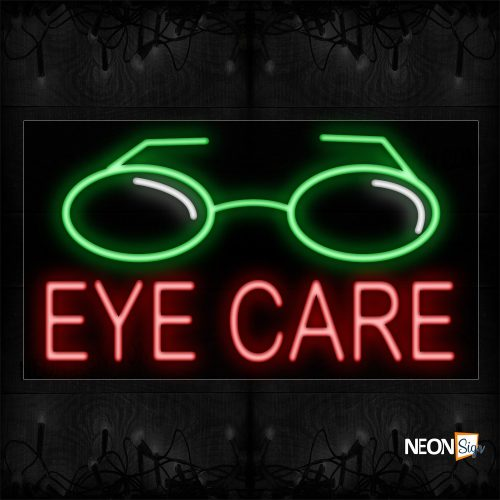 Image of 11286 Eye Care With Logo Neon Sign_20x37 Black Backing