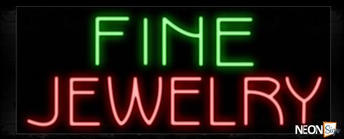 Image of 11399 Fine Jewelry Neon Sign_13x32 Black Backing