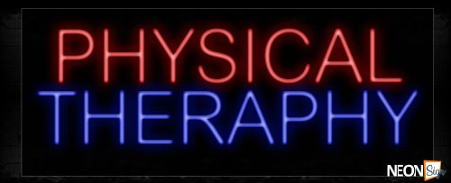 Image of 11461 Physical Therapy Neon Sign_13x32 Black Backing