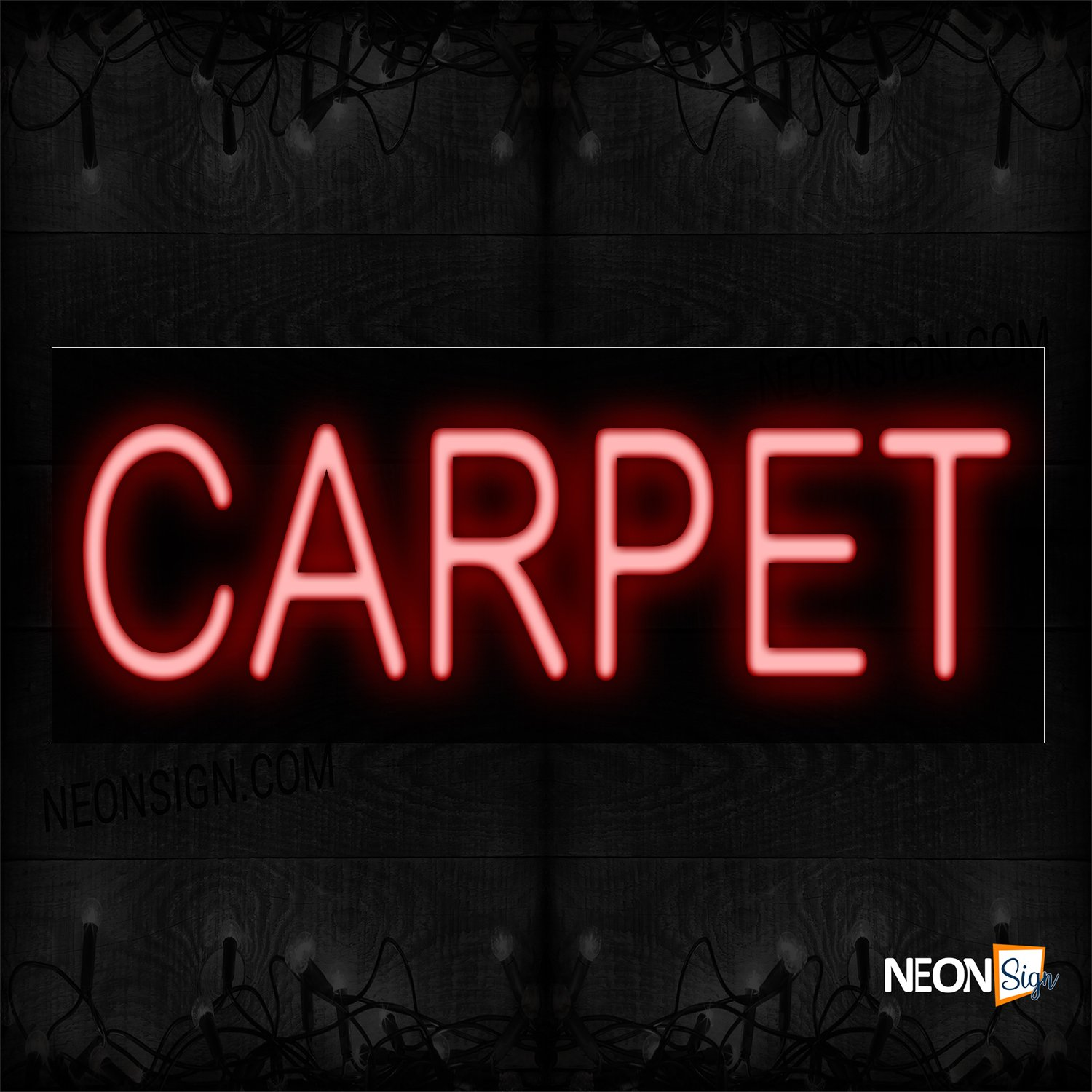 Image of 12033 Carpet Neon Sign_10x24 Black Backing