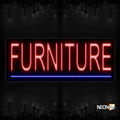 Image of 12066 Furniture With Underline Neon Sign_10x24 Black Backing