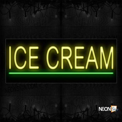 Image of 12081 Ice Cream With Underline Neon Signs_10x24 Black Backing