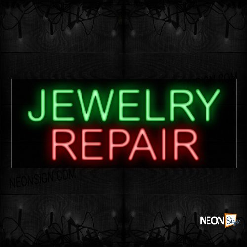 Image of 12085 Jewelry Repair With Neon Sign_10x24 Black Backing