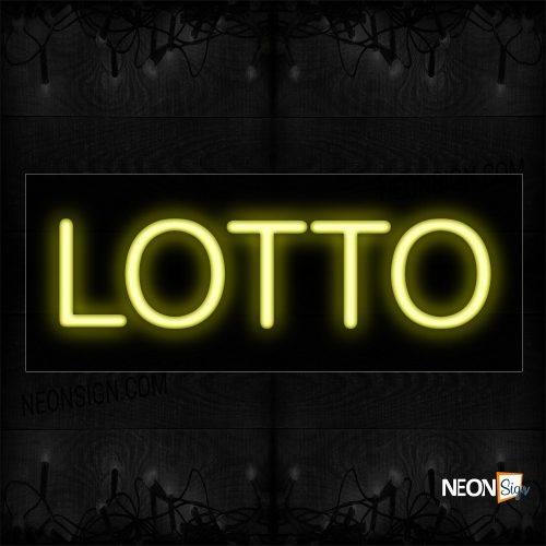 Image of 12094 Lotto Neon Sign_10x24 Black Backing