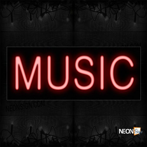 Image of 12106 Music Neon Sign_10x24 Black Backing