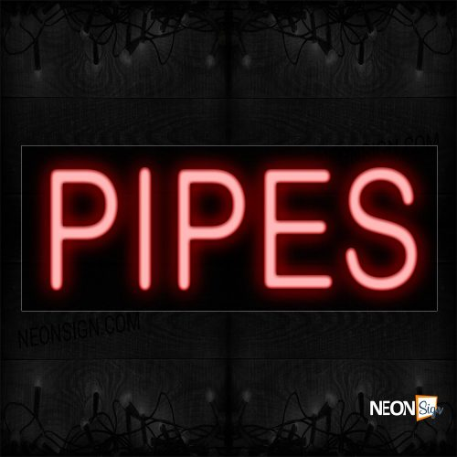 Image of 12137 Pipes In Red Neon Sign_10x24 Black Backing