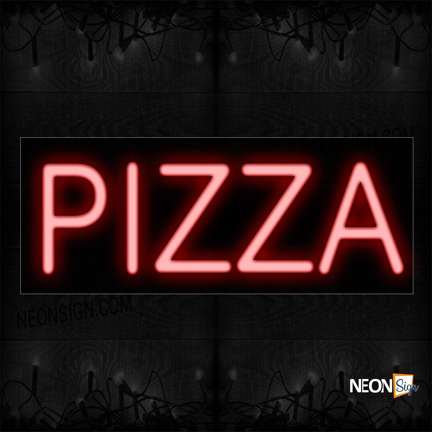 Image of 12138 Pizza Neon Sign_10x24 Black Backing