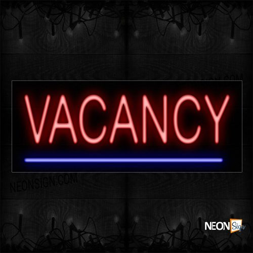 Image of 12184 Vacancy Traditional Neon_10x24 Black Backing