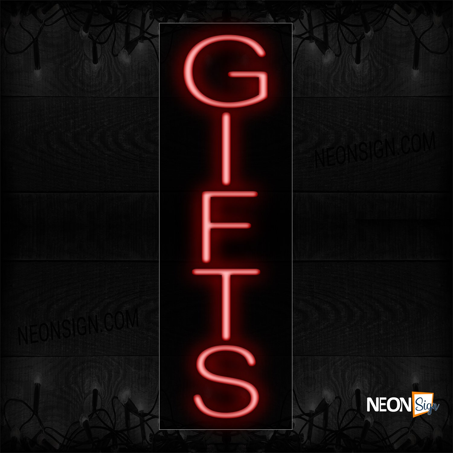 Image of 12238 Gifts In Red (Vertical)_8x24 Black Backing