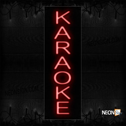 Image of 12252 Karaoke (Vertical) Neon Sign_8x24 Black Backing