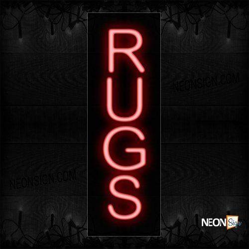 Image of 12285 Rugs Neon Sign_8x24 Black Backing
