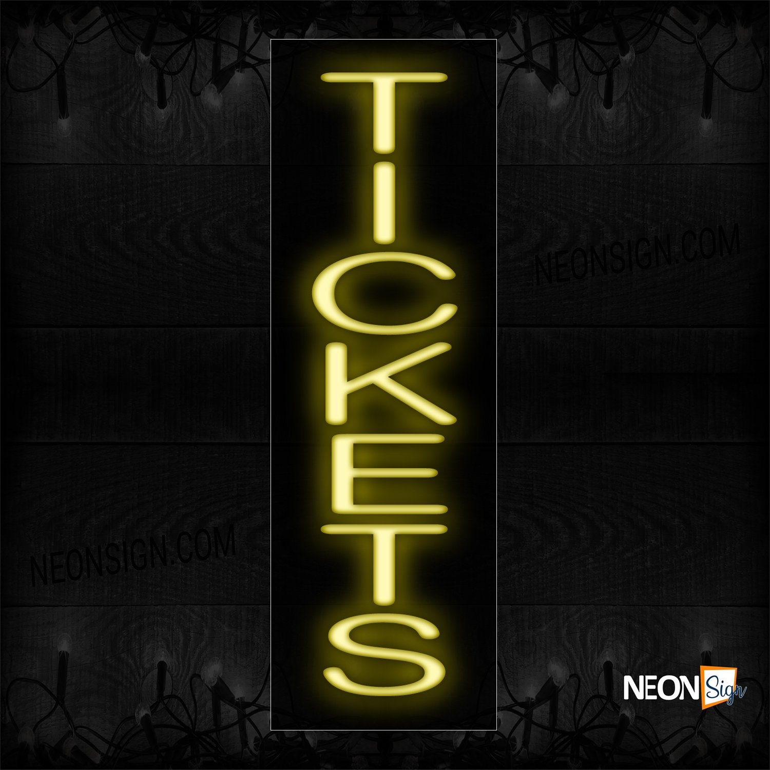 Image of 12309 Tickets Neon Sign_8x24 Black Backing