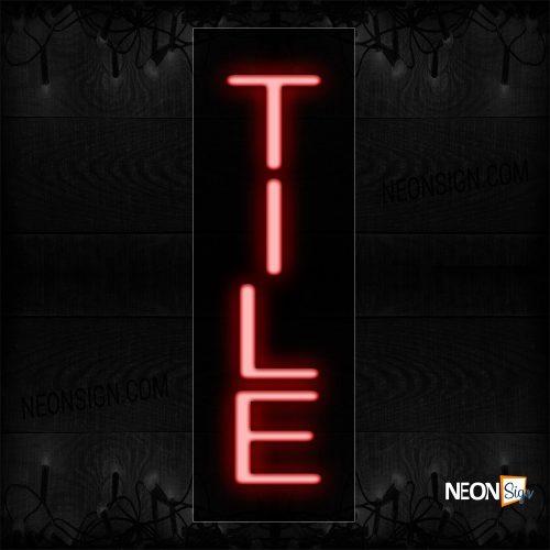 Image of 12310 Tile Neon Sign_8x24 Black Backing