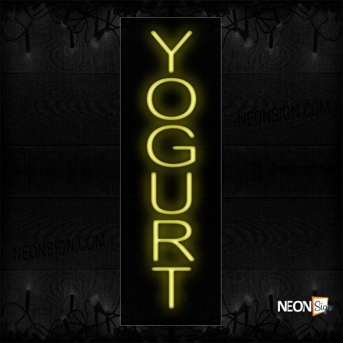 Image of 12324 Yogurt Neon Sign_8x24 Black Backing