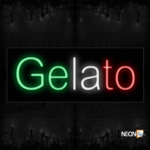 Image of 12335 Gelato Italian Themed Colors Traditional Neon_10x24 Black Backing