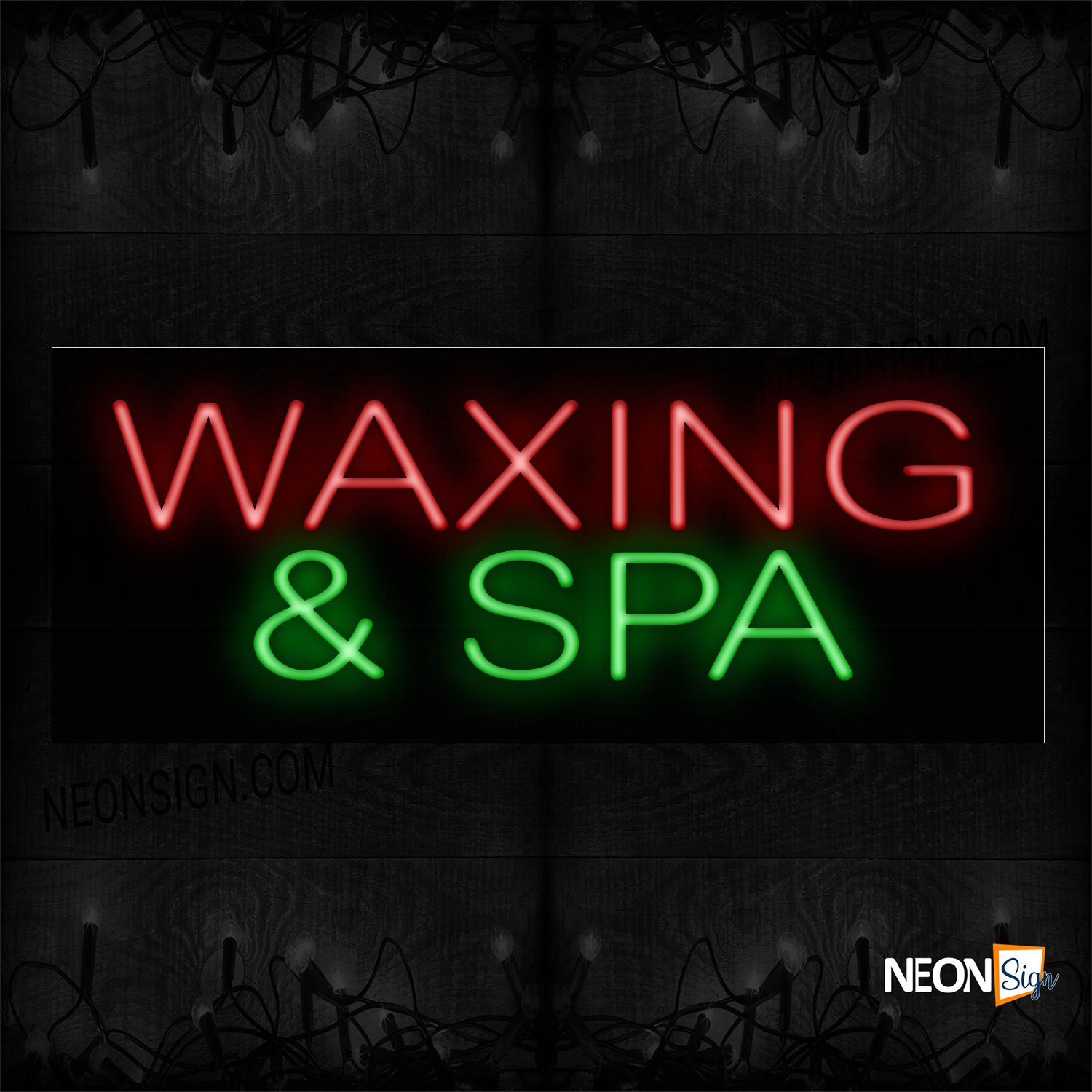 Image of 12343 Waxing & Spa Neon Signs_10x24 Black Backing