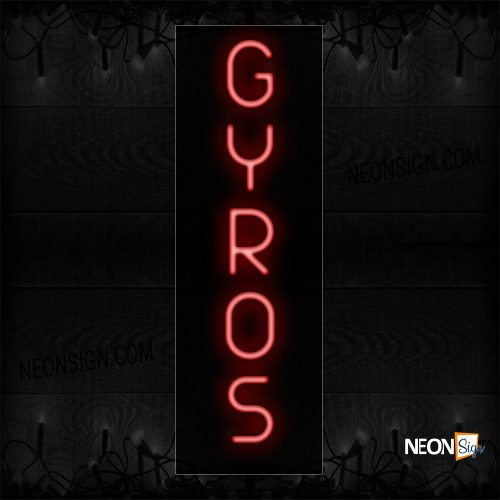 Image of 12346 Gyros Neon Sign_8x24 Black Backing