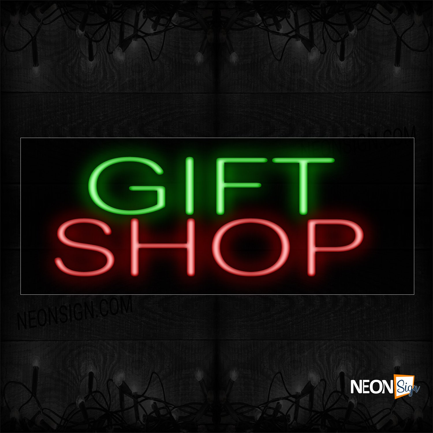 Image of 12371 Gift Shop_10x24 Black Backing