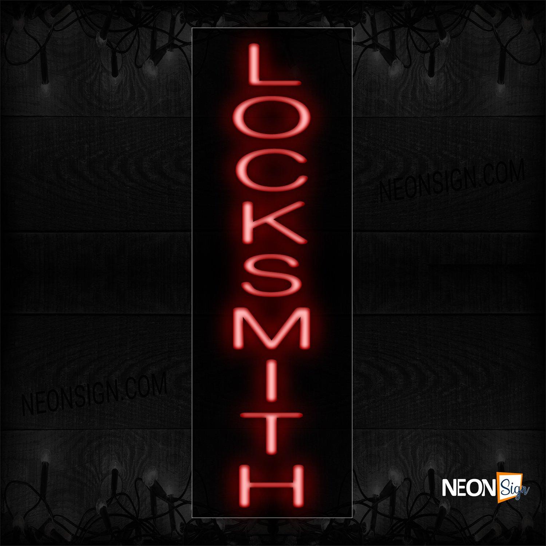 Image of 12447 Locksmith (Vertical) Neon Sign_8x32 Black Backing