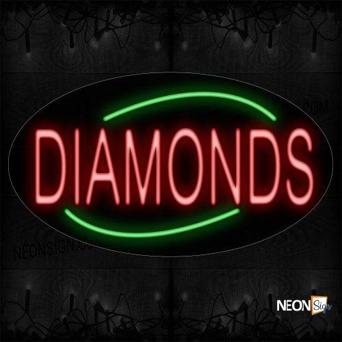 Image of 14188 Diamonds Traditional Neon_17x30 Contoured Black Backing