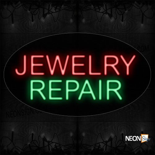 Image of 14228 Jewelry Repair Neon Sign_17x30 Contoured Black Backing