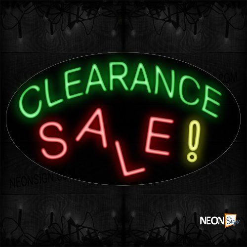 Image of 14506 Clearance Sale ! Neon Sign_17x30 Contoured Black Backing