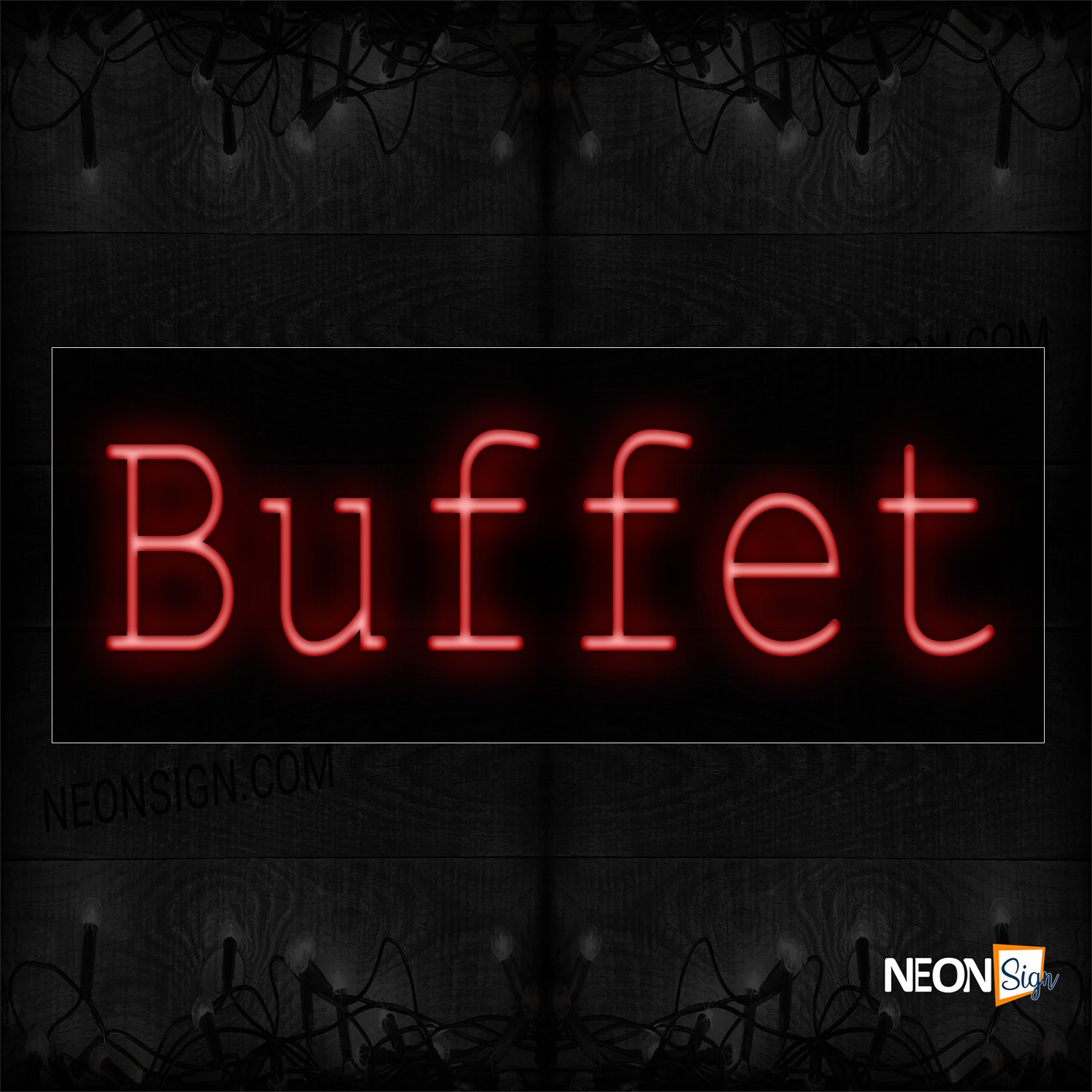 Image of Buffet Capitalized Text Neon Sign