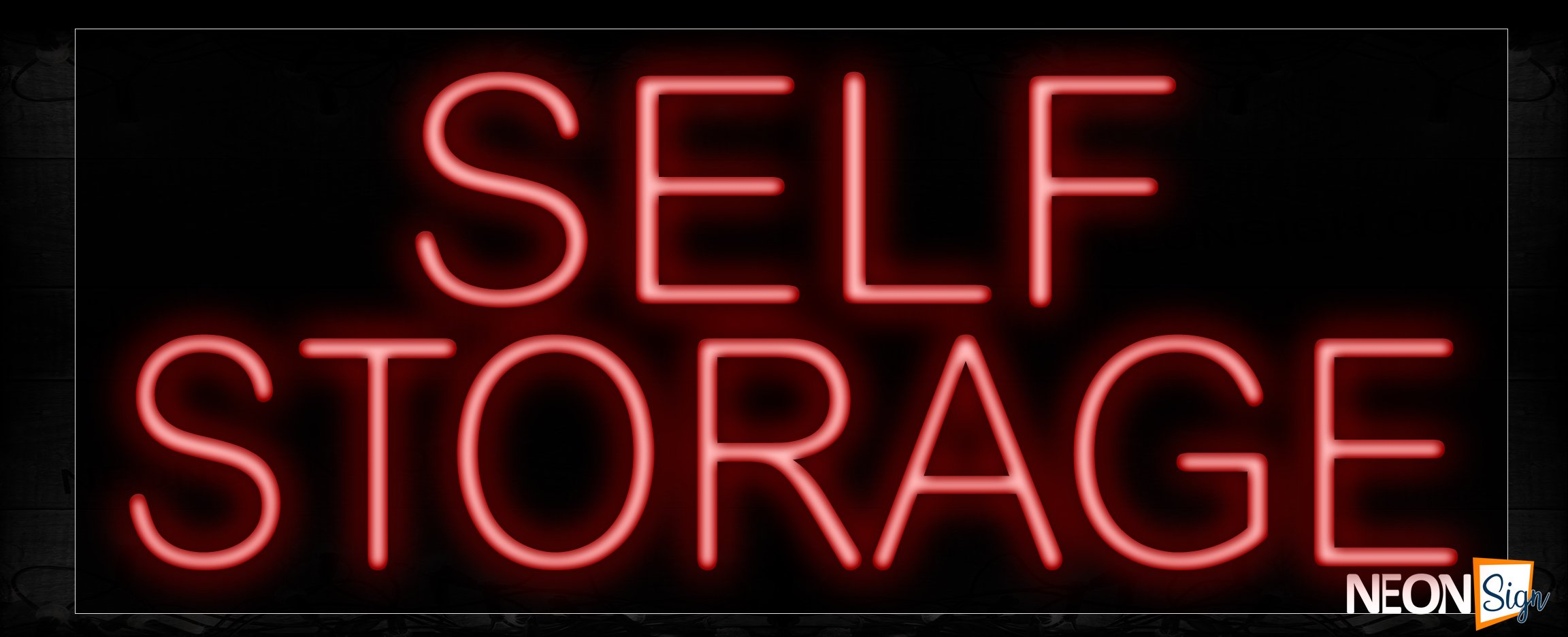 Image of Self Storage In Red Neon Sign