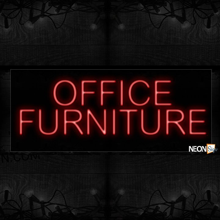 Image of Office Furniture in red Neon Sign