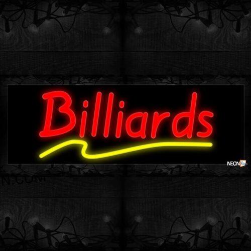 Image of Billiards With Wavy Underline Neon Sign