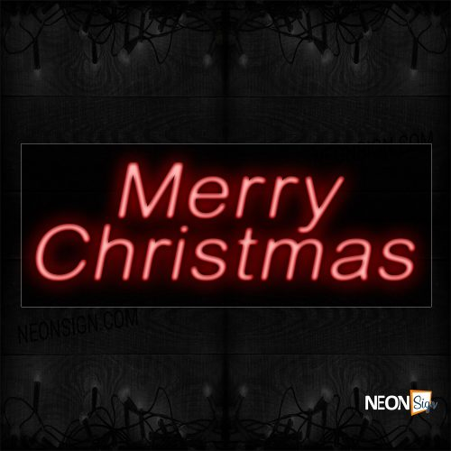 Image of Red Merry Christmas Neon Sign