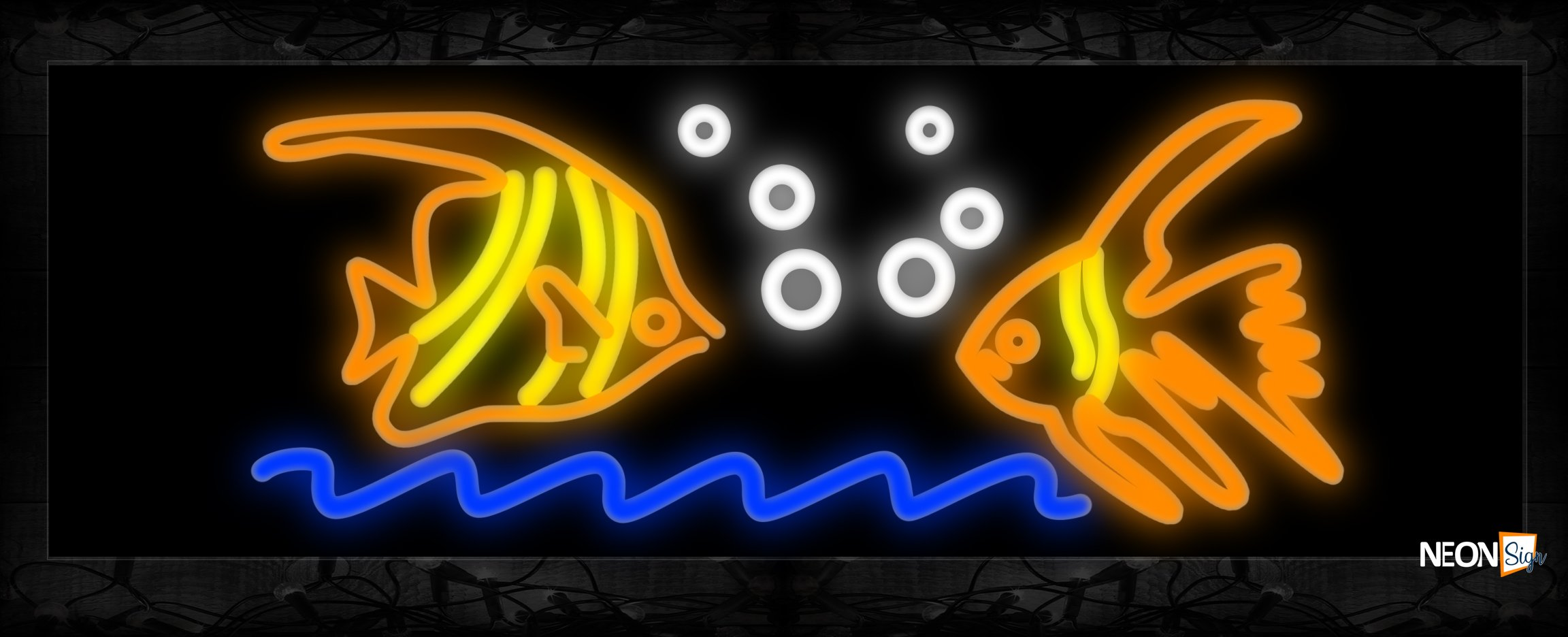 Image Of 2 Fish Neon Sign - NeonSign.com - photo#14