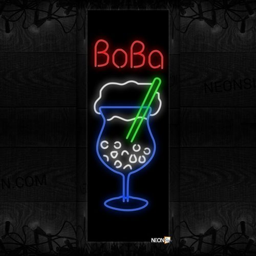 Image of Boba With Logo Neon Sign