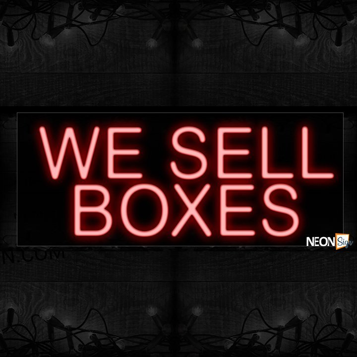 Image of We Sell Boxes In Red Neon Sign