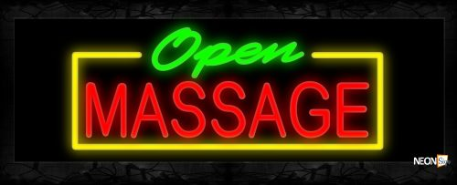 Image of Open Message With Border Neon Sign