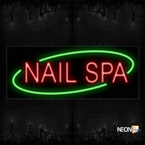 Image of Nail Spa With Circle Border Neon Sign