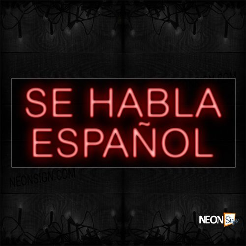 Image of Se Habla Español In Red Neon Sign